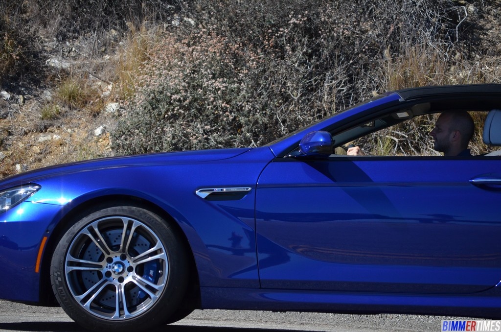 SPOTTED: F12 BMW M6 Convertible Canyon Carving with 650i Convertible