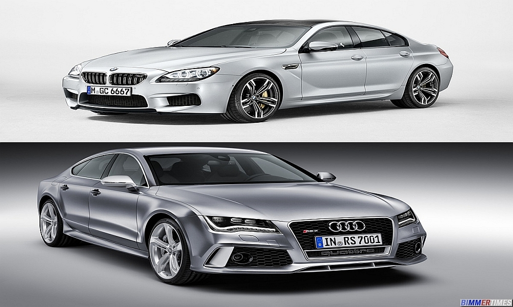 COMPARISON: Audi RS-7 vs BMW M6 Gran Coupe 2013 Models