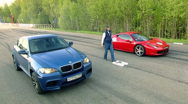 Drag Race Video: BMW X5M and BMW X6M vs The World