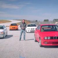 VIDEO: BMW E30 M3 vs E36 M3 Lightweight vs E46 M3 Coupe vs E92 M3 Lime Rock